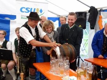 Gelungener Bieranstich der CSU Rosenheim-Stadt