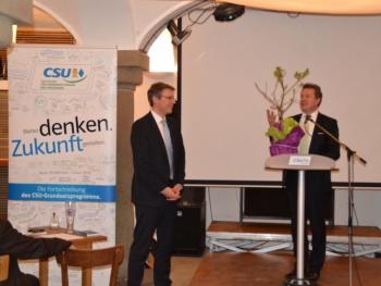 Basis-Diskussion mit dem Vorsitzenden der CSU-Grundsatzkommission in Rosenheim