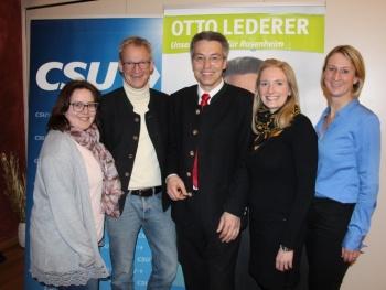Otto Lederer bei Kandidatenvorstellung CSU Brannenburg