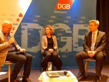 Landrat Kandidaten Talk des DGB Rosenheim