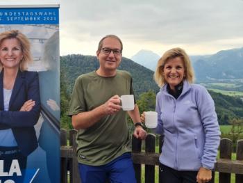 CSU-Wahlkampfendspurt auf der Dandlbergalm mit Alexander Dobrindt