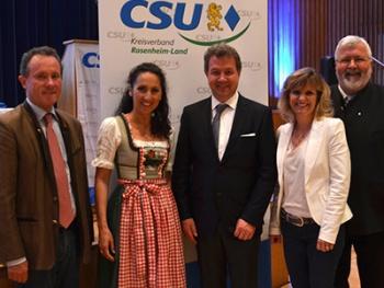Ergebnisse der Neuwahlen bei Kreisvertreterversammlung CSU Rosenheim Land