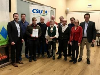 CSU Brannenburg - JHV 2019: Vorstandschaft im Amt bestätigt