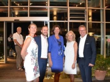 Sommerempfang mit Staatsministerin Ilse Aigner bei Yachten Meltl in Bernau